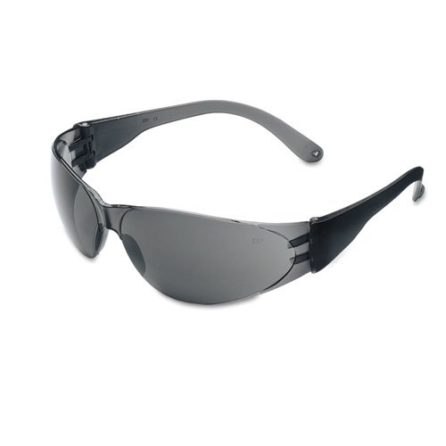 Checklite Scratch-Resistant Safety Glasses, Gray Lens. Picture 1