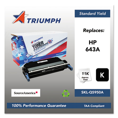 751000NSH0283 Remanufactured Q5950A (643A) Toner, 11000 Page-Yield, Black. Picture 1