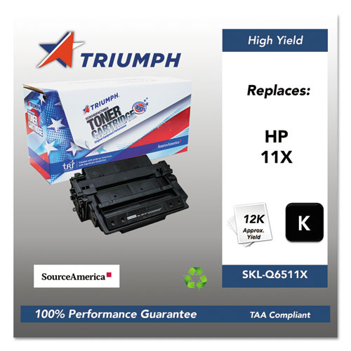 751000NSH0360 Remanufactured Q6511X (11X) High-Yield Toner, 12,000 Page-Yield, Black. Picture 1