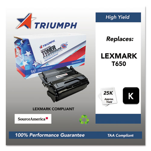751000NSH1063 Remanufactured T650H11A High-Yield Toner, 25,000 Page-Yield, Black. Picture 1