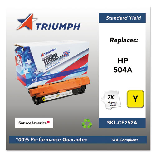 751000NSH0981 Remanufactured CE252A (504A) Toner, Yellow. Picture 1