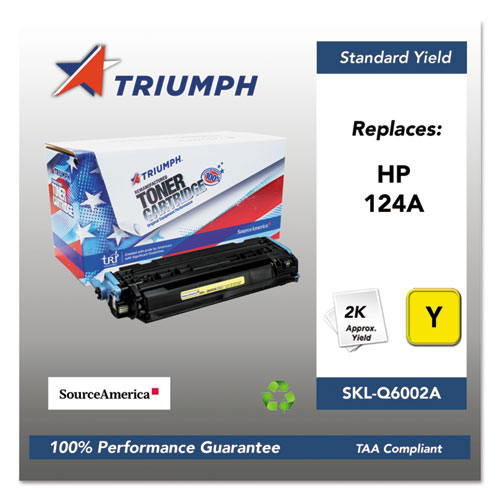 751000NSH0293 Remanufactured Q6002A (124A) Toner, Yellow. Picture 1