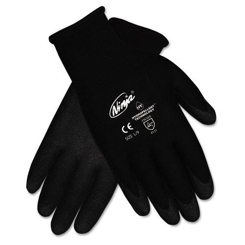 Ninja HPT PVC coated Nylon Gloves, Medium, Black, Pair. Picture 1