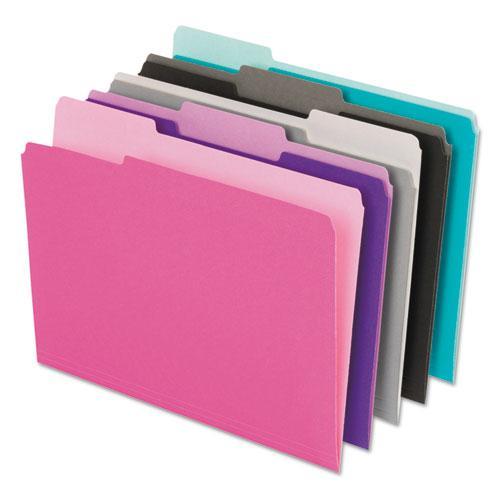 Interior File Folders, 1/3-Cut Tabs, Letter Size, Assortment 1, 100/Box. Picture 2