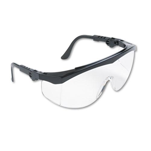 Tomahawk Wraparound Safety Glasses, Black Nylon Frame, Clear Lens, 12/Box. Picture 1