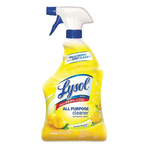 Ready-to-Use All-Purpose Cleaner, Lemon Breeze, 32 oz Spray Bottle, 12/Carton. The main picture.