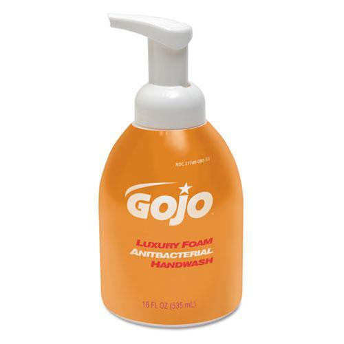 Luxury Foam Antibacterial Handwash, Orange Blossom, 535 mL Bottle, 4/Carton. Picture 1