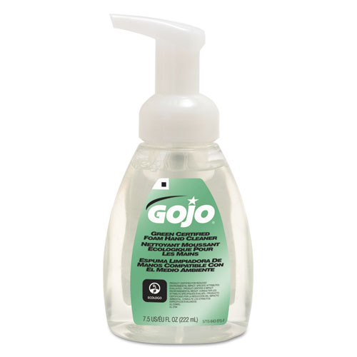 Green Certified Foam Soap, Fragrance-Free, 7.5 oz Pump Bottle. Picture 1
