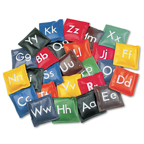 Alphabet Bean Bag Set, Vinyl, Assorted Colors, 26/Set. Picture 1