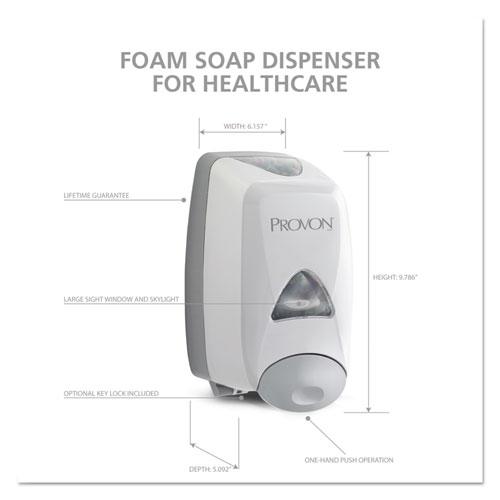 FMX-12T Foam Soap Dispenser, 1,250 mL, 6.25 x 5.12 x 9.88, Dove Gray. Picture 4