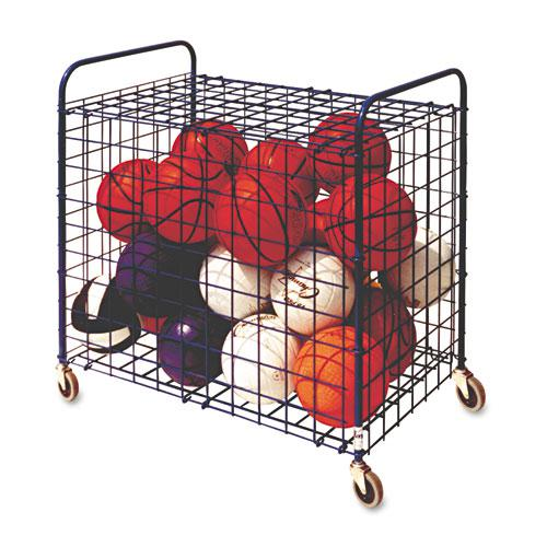 Lockable Ball Storage Cart, 24-Ball Capacity, 37w x 22d x 20h, Black. Picture 1