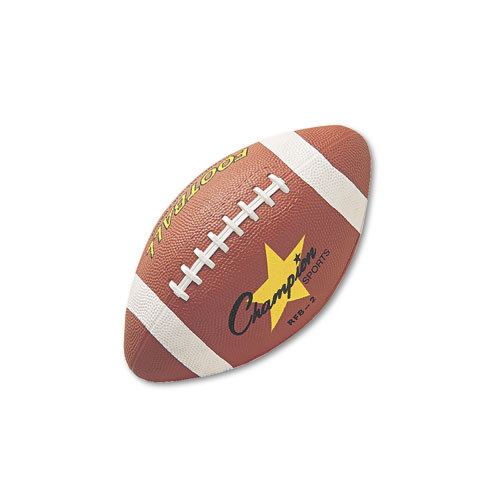 Rubber Sports Ball, For Football, Intermediate Size, Brown. Picture 1