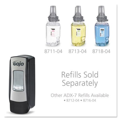 "ADX-7 Dispenser, 700 mL, 9.8"" x 3.94"" x 3.7"", Chrome. Picture 11"