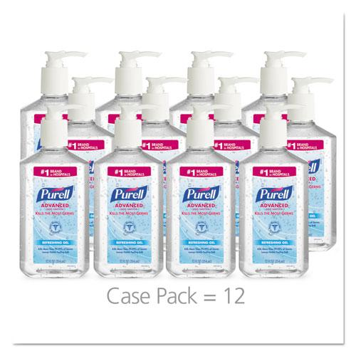 Advanced Hand Sanitizer Refreshing Gel, Clean Scent, 12 oz Pump Bottle. Picture 2