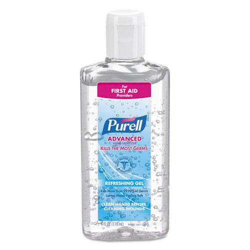 Advanced Refreshing Gel Hand Sanitizer, Clean Scent, 4 oz Flip-Cap Bottle, 24/Carton. Picture 1