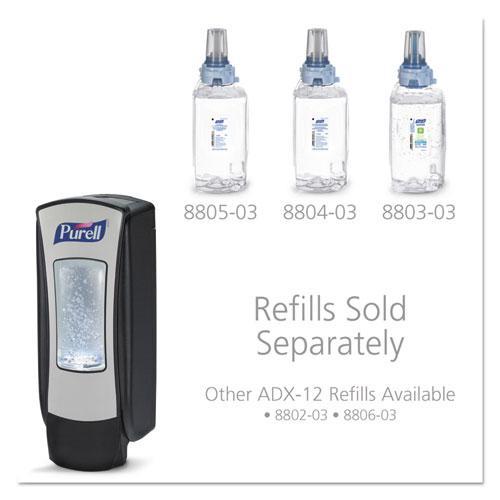 ADX-12 Dispenser, 1,200 mL, 4.5 x 4 x 11.25, Chrome/Black. Picture 10