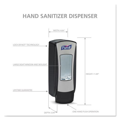 ADX-12 Dispenser, 1,200 mL, 4.5 x 4 x 11.25, Chrome/Black. Picture 11