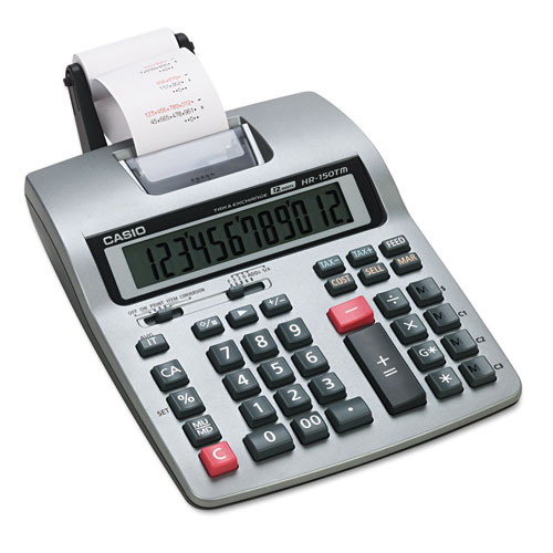 Hr 150tm two color printing calculator black red print 2 for Red line printing
