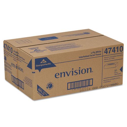 Facial Tissue, 2-Ply, White, 100 Sheets/Box, 30 Boxes/Carton. Picture 2