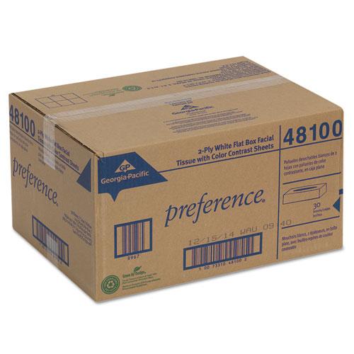 Facial Tissue, 2-Ply, White, Flat Box, 100 Sheets/Box, 30 Boxes/Carton. Picture 2