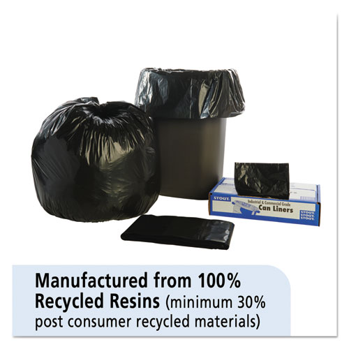 """Total Recycled Content Plastic Trash Bags, 30 gal, 1.3 mil, 30"""" x 39"""", Brown/Black, 100/Carton. Picture 4"""