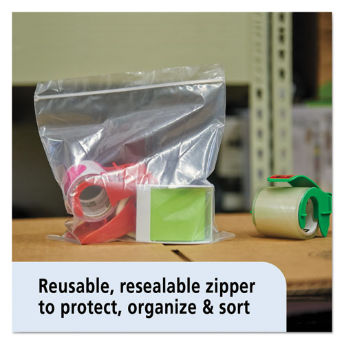 Zip-Seal Closure Bags, Clear, 6 x 6, 1000/Carton. Picture 4