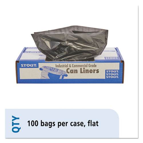 """Total Recycled Content Plastic Trash Bags, 30 gal, 1.3 mil, 30"""" x 39"""", Brown/Black, 100/Carton. Picture 1"""