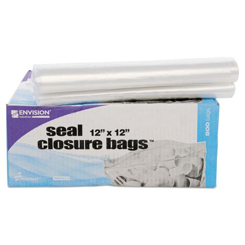 "Seal Closure Bags, 2 mil, 12"" x 12"", Clear, 500/Carton. Picture 6"