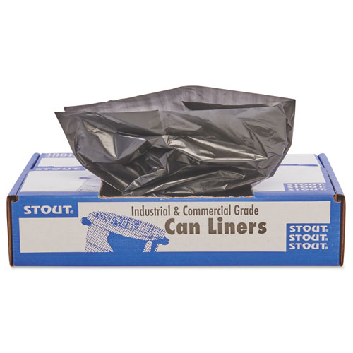 """Total Recycled Content Plastic Trash Bags, 30 gal, 1.3 mil, 30"""" x 39"""", Brown/Black, 100/Carton. Picture 6"""