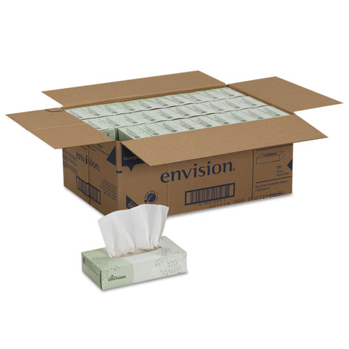 Facial Tissue, 2-Ply, White, 100 Sheets/Box, 30 Boxes/Carton. Picture 4