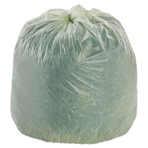 """EcoSafe-6400 Bags, 32 gal, 0.85 mil, 33"""" x 48"""", Green, 50/Box. Picture 3"""