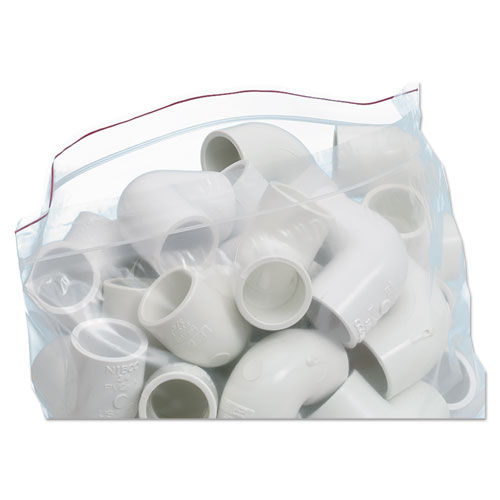 "Seal Closure Bags, 2 mil, 12"" x 12"", Clear, 500/Carton. Picture 8"