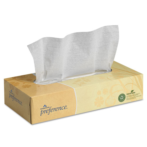 Facial Tissue, 2-Ply, White, Flat Box, 100 Sheets/Box, 30 Boxes/Carton. Picture 1