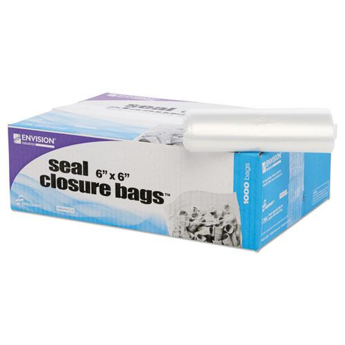 Zip-Seal Closure Bags, Clear, 6 x 6, 1000/Carton. Picture 12