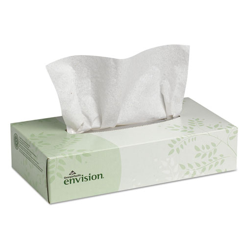 Facial Tissue, 2-Ply, White, 100 Sheets/Box, 30 Boxes/Carton. Picture 1