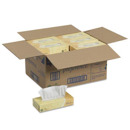 Facial Tissue, 2-Ply, White, Flat Box, 100 Sheets/Box, 30 Boxes/Carton. Picture 4