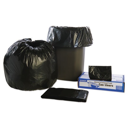 """Total Recycled Content Plastic Trash Bags, 30 gal, 1.3 mil, 30"""" x 39"""", Brown/Black, 100/Carton. Picture 9"""
