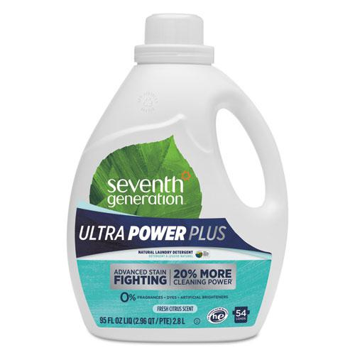 Natural Liquid Laundry Detergent, Ultra Power Plus, Fresh Scent, 54 Loads, 95 oz. Picture 1