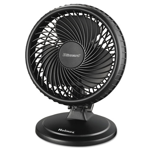 """Lil' Blizzard 7"""" Two-Speed Oscillating Personal Table Fan, Plastic, Black. Picture 1"""