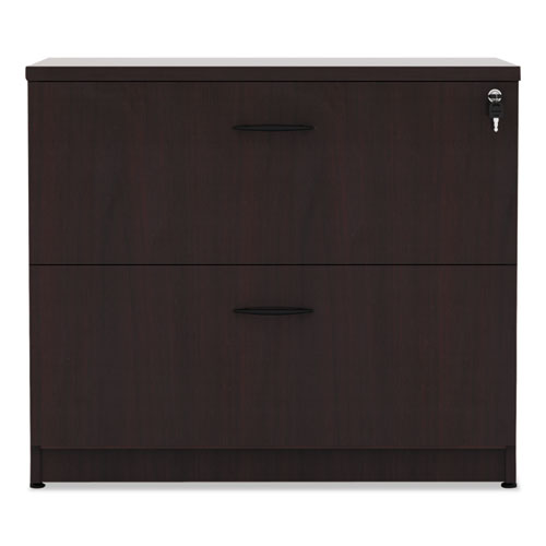 Alera Valencia Series Two Drawer Lateral File, 34w x 22.75d x 29.5h, Mahogany. Picture 1