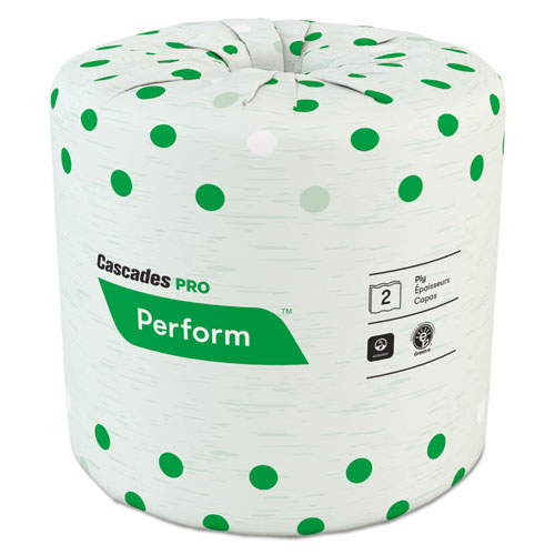 Perform Standard Bathroom Tissue, Septic Safe, 2-Ply, White, 4 x 3 1/2, 336 Sheets/Roll, 48 Rolls/Carton. Picture 1
