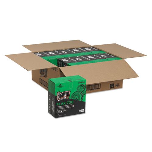 FLAX 700 Medium Duty Cloths, 9 x 16 1/2, White, 94/Box, 10 Box/Carton. Picture 5