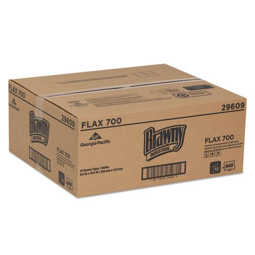 FLAX 700 Medium Duty Cloths, 9 x 16 1/2, White, 94/Box, 10 Box/Carton. Picture 3