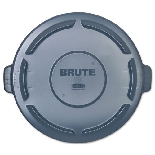 Vented Round BRUTE Lid, 24.5 dia x 1.5h, Gray. Picture 1