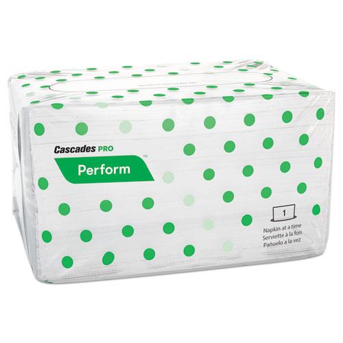 Perform Interfold Napkins, 1-Ply, 6 1/2 x 4 1/4, White, 188/PK, 6016/Carton