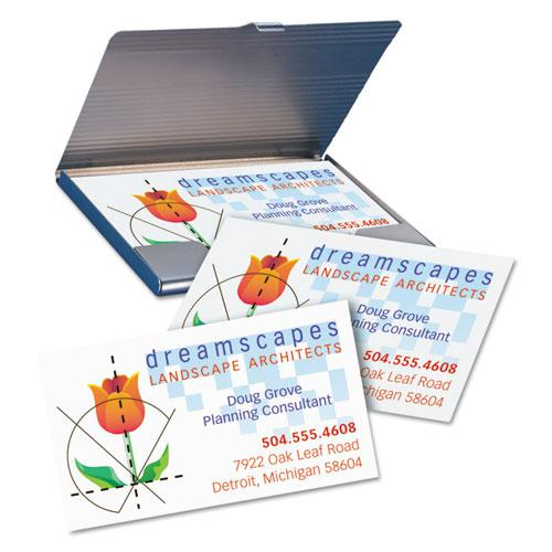 Printable Microperforated Business Cards with Sure Feed Technology, Inkjet, 2 x 3.5, White, Matte, 1000/Box. Picture 8