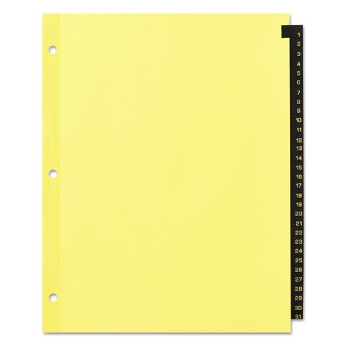 Preprinted Black Leather Tab Dividers, 31-Tab, Letter. Picture 2