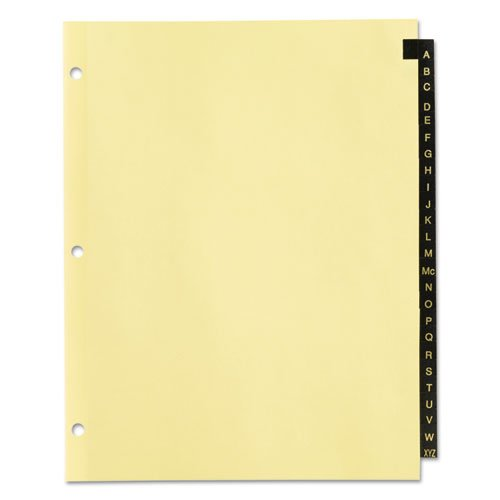 Preprinted Black Leather Tab Dividers, 25-Tab, Letter. Picture 2