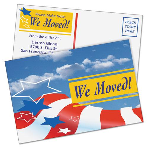 Postcards, Color Laser Printing, 4 x 6, Uncoated White, 2 Cards/Sheet, 80/Box. Picture 4