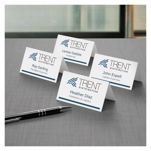 Small Tent Card, White, 2 x 3 1/2, 4 Cards/Sheet, 160/Box. Picture 6